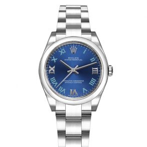 Replica Rolex Oyster Perpetual da donna 177200 quadrante blu meccanico automatico