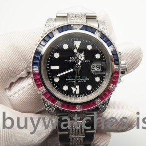 Rolex GMT-Master Ii 116759 Orologio Automatico Da Uomo Nero Con Diamanti 40 Mm