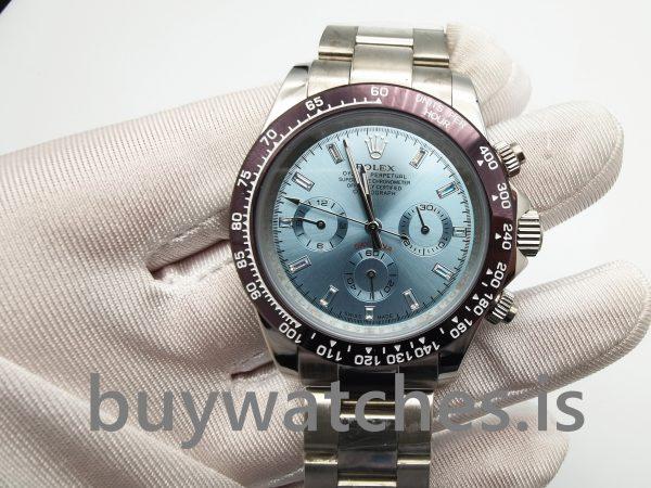 Rolex Daytona 116506 Orologio da uomo automatico in platino 950 azzurro