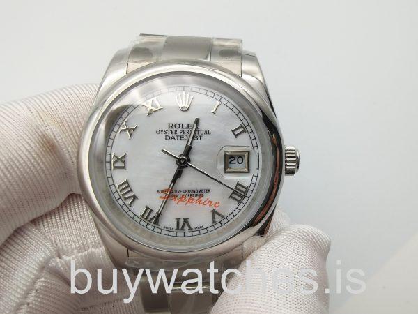 Rolex Datejust 16200 Orologio automatico in acciaio argentato da 36 mm