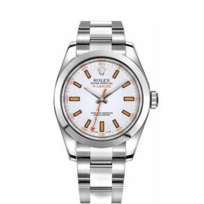 Rolex Milgauss 116400 Orologio automatico da uomo in acciaio arancione da 40 mm