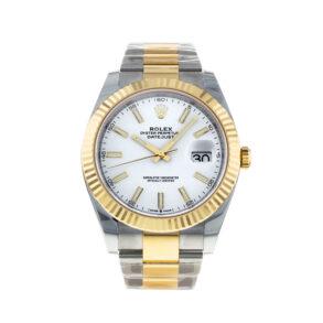 Rolex Datejust Oyster White Stk Asian 2813 Orologio automatico da uomo bianco