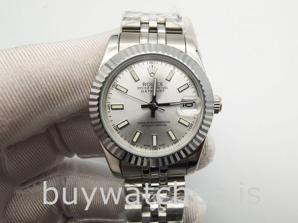 Rolex Datejust 68274 Orologio automatico da donna in argento 31 mm