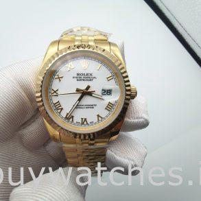 Rolex Datejust 126333 Orologio automatico da uomo in acciaio bianco da 41 mm