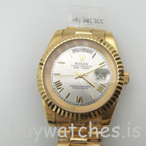 Rolex Day-Date II 218238 Orologio automatico da uomo in oro giallo da 41 mm