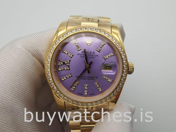 Rolex Datejust 278384 Orologio da donna, 31 mm, automatico, viola con diamanti
