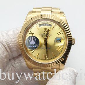Rolex Day-Date 228238 Orologio automatico in acciaio unisex in oro giallo da 40 mm
