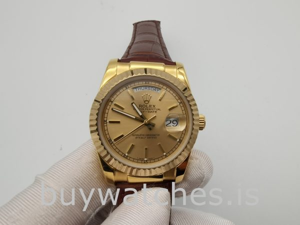 Rolex Day-Date 1503 Orologio automatico unisex in oro da 34 mm