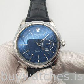 Rolex Cellini Date 50519 Orologio automatico da uomo in acciaio blu da 39 mm
