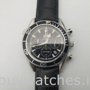 Omega Seamaster Pr603 Orologio automatico in pelle nera blu navy platino