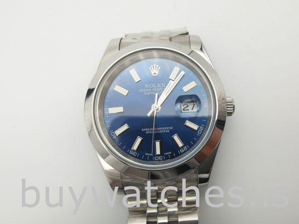 Rolex Datejust 126300 Orologio automatico da uomo in acciaio blu da 41 mm