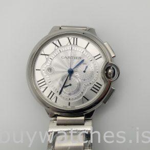 Cartier Ballon Bleu W6920002 Orologio automatico da uomo in argento da 47 mm