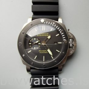 Panerai Luminor Submersible Pam00389 Orologio automatico da uomo nero da 47 mm