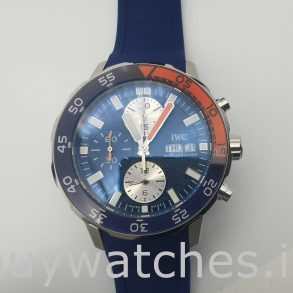 IWC Aquatimer IW376704 Orologio automatico rotondo in gomma blu da 44 mm