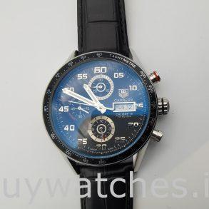 TAG Heuer Carrera CV2A1R.FC6235 Orologio automatico nero da uomo rotondo 43 mm
