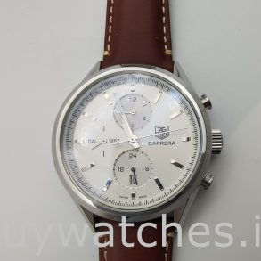 Tag Heuer Carrera Car2111.Fc6291 Orologio automatico da uomo in pelle 41 mm