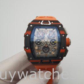 Richard Mille RM11-03 Orologio unisex in gomma con cassa in carbonio da 44 mm