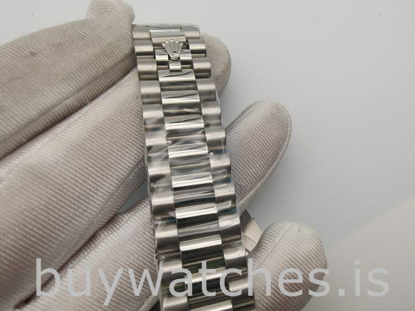 Rolex Day-Date 228349RBR Orologio da uomo con quadrante argentato 40 mm