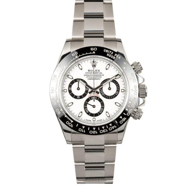 Rolex Daytona 116500 Orologio da uomo con quadrante bianco da 40 mm