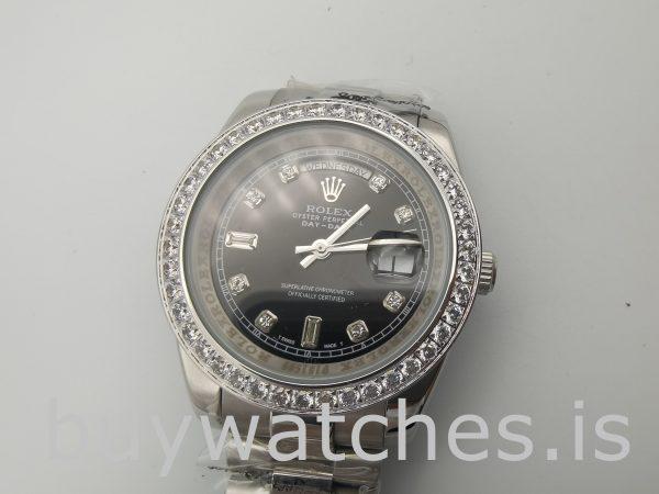 Rolex Day-Date 228349RBR Orologio da uomo con quadrante nero da 40 mm