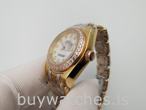 Rolex Datejust 80299 Orologio da donna con quadrante bianco da 29 mm in oro