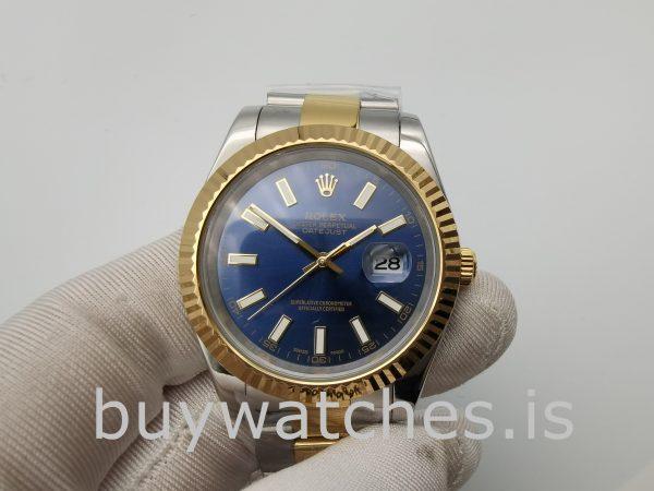 Rolex Datejust 116233 Orologio da uomo con quadrante blu da 36 mm