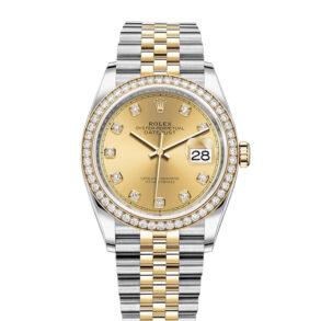 Rolex Datejust 126283RBR Orologio da donna con quadrante champagne da 36 mm