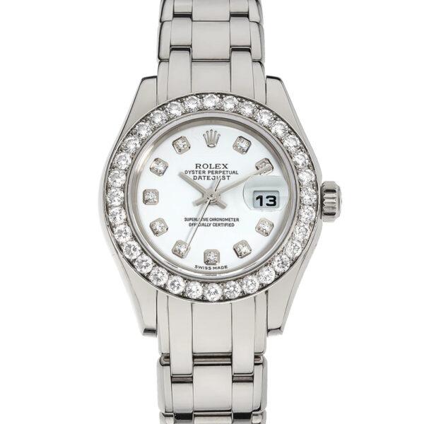 Rolex Datejust 80299 Orologio da donna con quadrante in oro bianco da 29 mm