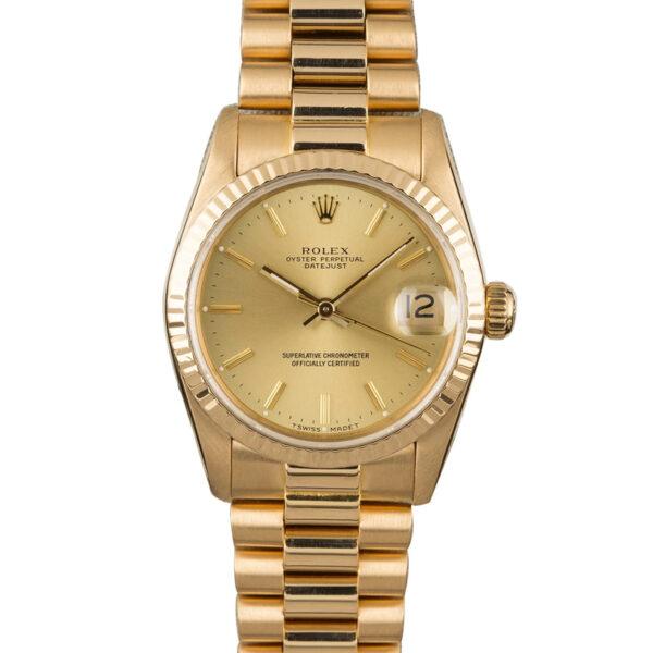 Rolex Datejust 68278 Orologio automatico da 31 mm con quadrante champagne