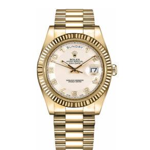Rolex Day-Date II 218238 Orologio da uomo con quadrante argentato da 41 mm