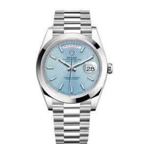 Rolex Day-Date Orologio automatico da uomo blu Stk Smth 40 mm 3255