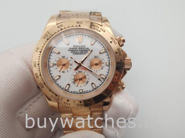 Rolex Daytona 116505 Orologio da uomo con quadrante in oro rosa da 40 mm
