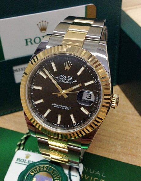 Rolex Datejust 126333 Orologio da uomo in oro giallo 18 kt da 41 mm