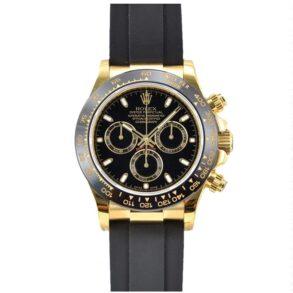 Rolex Cosmograph Daytona Orologio da uomo con quadrante nero da 40 mm