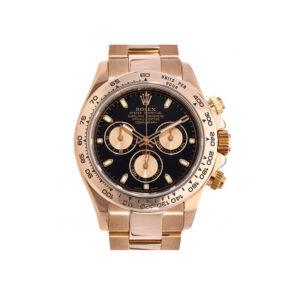 Rolex Daytona 116505 Orologio da uomo rotondo in oro rosa da 40 mm