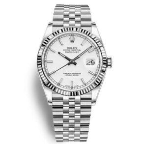 Rolex Datejust 116234 Replica Orologio da donna con quadrante bianco 36mm