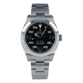 Rolex Air-King 116900 Replica Orologio da uomo con quadrante nero da 40 mm